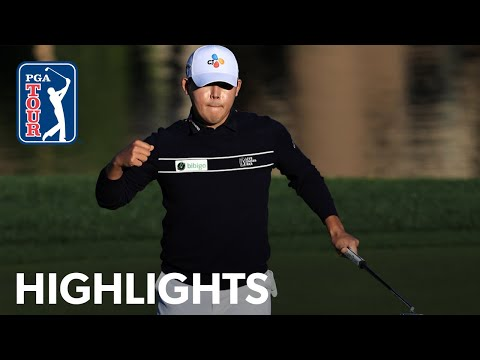 Si Woo Kim shoots 8-under 64 | Round 4 | The American Express | 2021