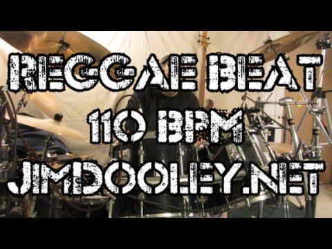 Reggae Drum Beat 110 BPM - JimDooley.net - YouTube