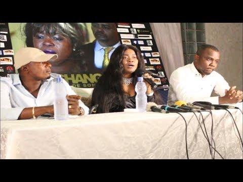 ursule peshanga devant la presse parle de son film