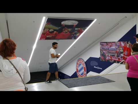 Allianz Arena tour - FC Bayern Munich, FC Bayern München champions league theme song. [1080 HD]