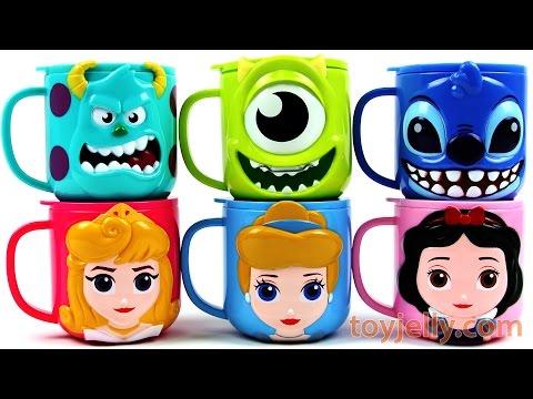Disney 3D Slime Surprise Cups Princess Stitch Monsters University Pac-Man Toys Milk Carton Play Doh