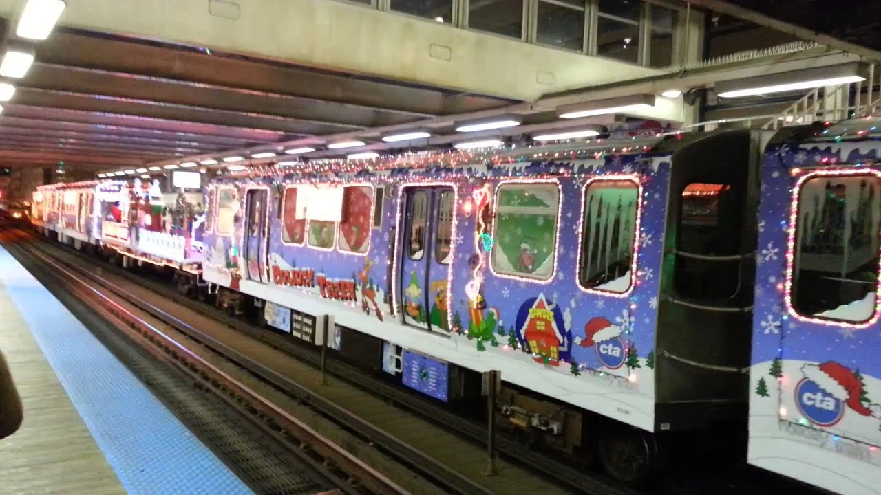 Christmas train Chicago CTA 2013 - YouTube