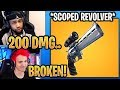 Streamers React to *NEW* Scoped Revolver! - Fortnite Best and Funny Moments
