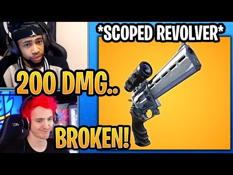 Streamers React to *NEW* Scoped Revolver! - Fortnite Best and Funny Moments thumbnail