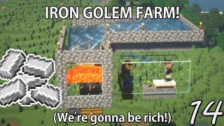 BUILDING AN IRON GOLEM FARM  Minecraft Hardcore Survival (14)