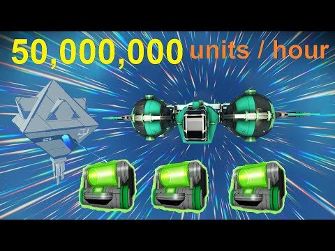 No Man's Sky 1.3 - making 50,000,000 units/hour trading (cra