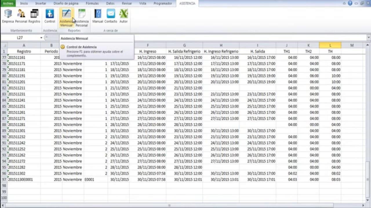 Magnífico Hoja De Asistencia Excel Plantilla Patrón - Ejemplo De ...