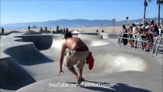 Skateboarding Tricks Fails Wins  Awesome Little Kid at Venice Beach Skateboard Park thumbnail