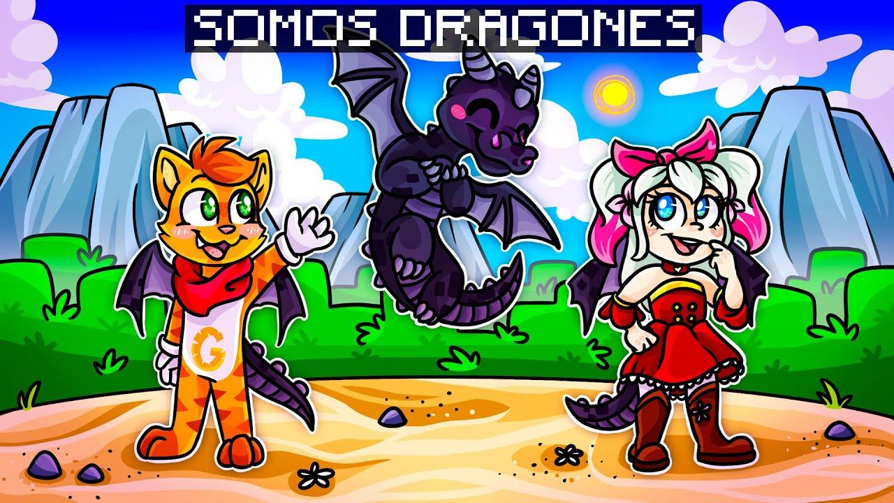 ¡MINECRAFT PERO NOS CONVERTIMOS EN DRAGONES! 🔥 🐲 🤣 | SRGATO X FLOR SON DRAGONES LEGENDARIOS