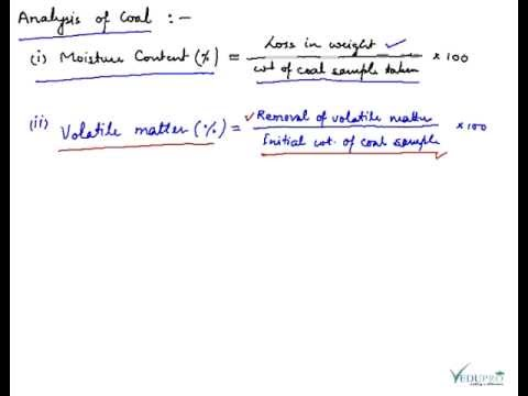 Defining and Explaining Coal, Analysis of Coal