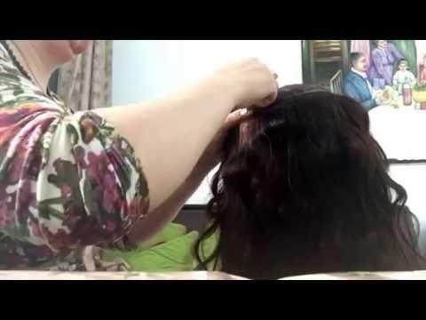 Как сделать парик из ниток для человека своими руками 773