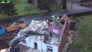 ES Media Spelle Ein Haus mit Geschichte (alte Polizei Stadtion Abriss mit schwerem Gerät)