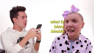 jojo siwa is oblivious to a lot including how fast she talks