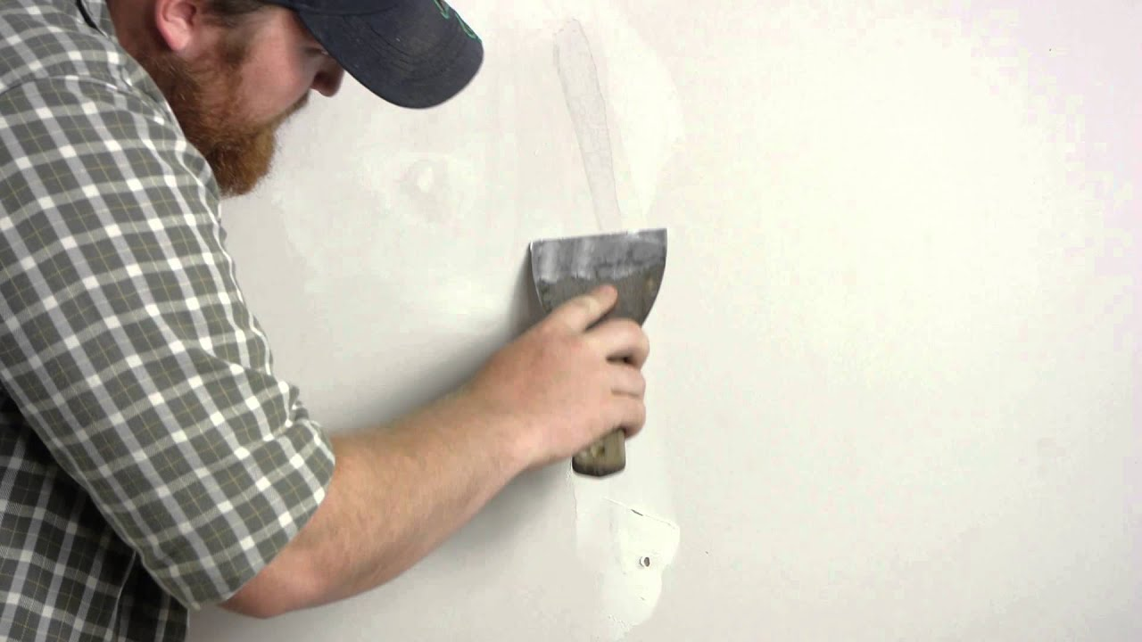Patching Torn Drywall Paper Wall Repair Youtube