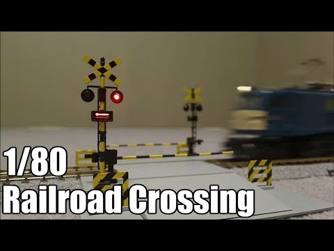 【鉄道模型】 HOゲージ踏切  HO scale Model Railroad Crossing