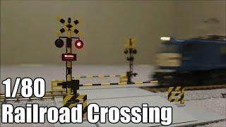 【鉄道模型】 HOゲージ踏切  HO scale Model Railroad Crossing