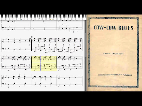 Cow Cow Blues by Charles Davenport (1928, Jazz piano)