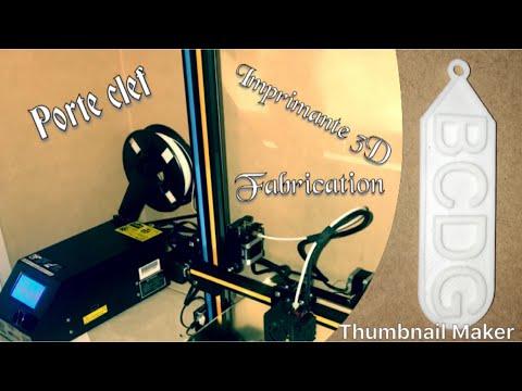 Fabrication de porte clef (imprimante 3D) chez Romain P...