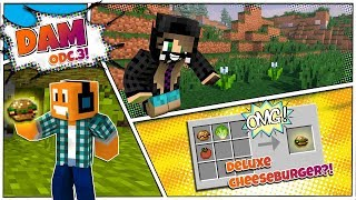 "Minecraft DAM #3 - ""Nowa wioska i deluxe Cheeseburger!"""