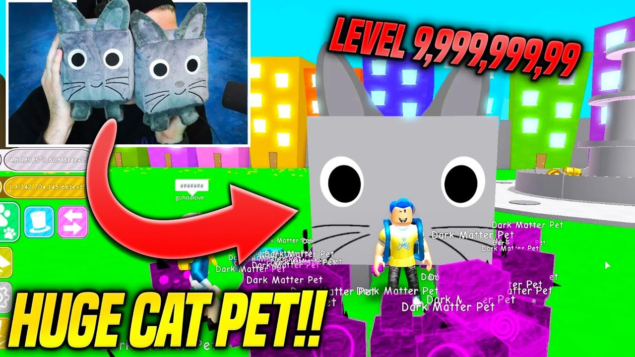 Roblox Pet Simulator Big Cat Code I Finally Got The Giant Cat Pet In Pet Simulator Rarest And Highest Level Ever Roblox Youtube