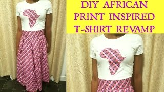 Download Video DIY T-shirt Revamp   Ankara styles   African Map Inspired MP3 3GP MP4