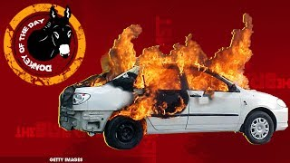 Man Abandons Burning Vehicle With Girlfriend Inside, Hails Cab