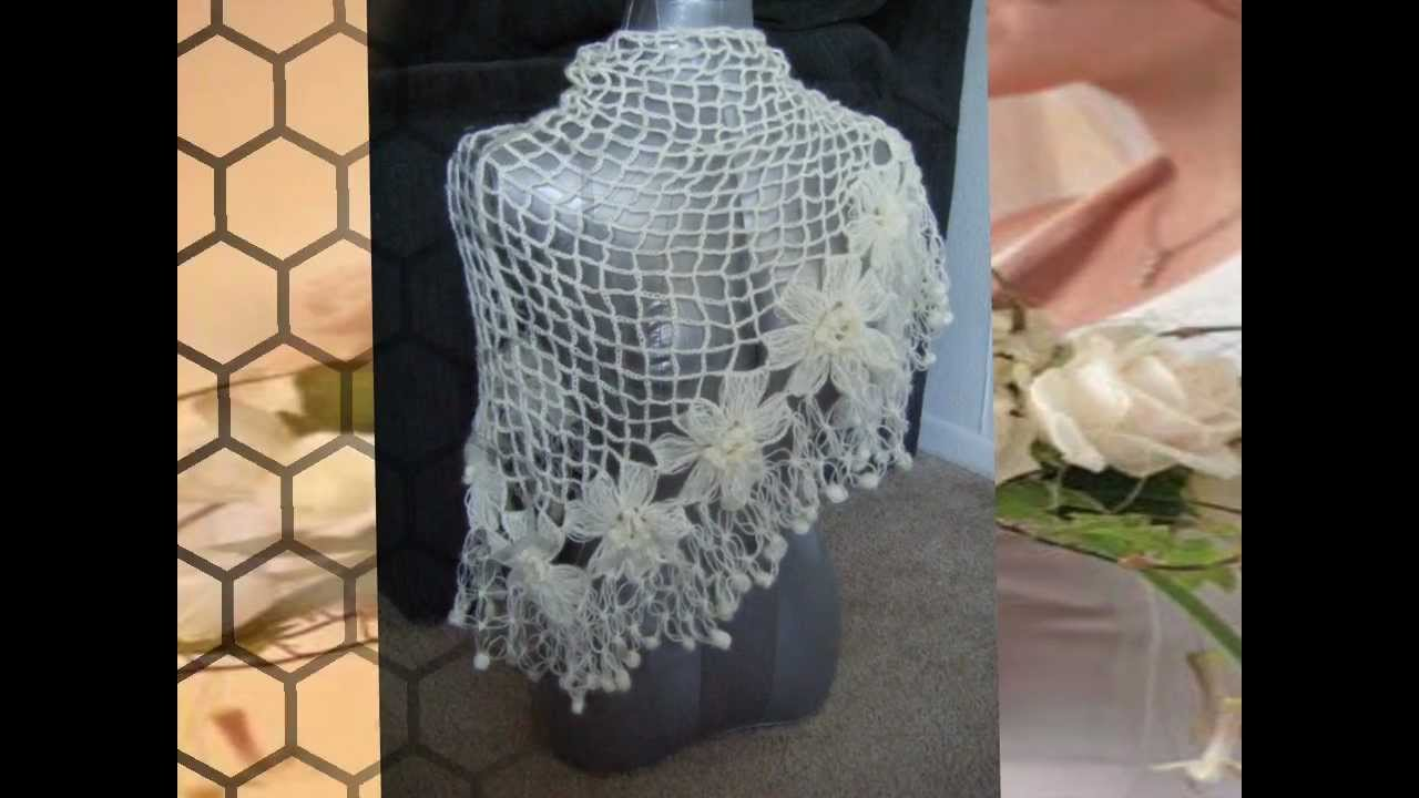 Crochet Shawl Patterns Youtube : Crochet Shawl Scarf Cape Pattern - YouTube