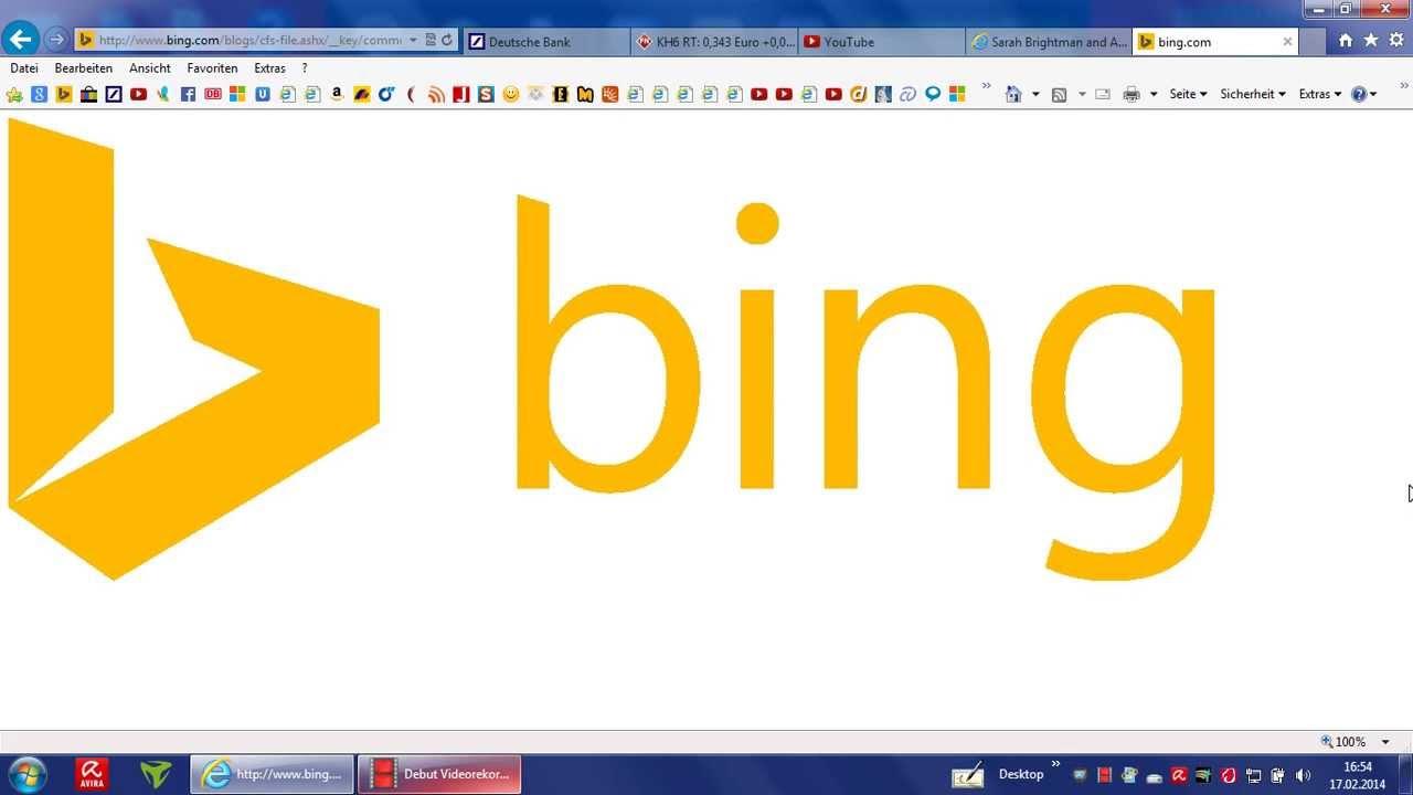 Bing, Löschen