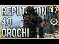 REPUTATION 40 Orochi Full Customisation, Gear and Stats Showcase [For Honor]