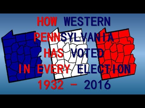How Western Pennsylvania has voted in every Presidential Election since the Great Depression