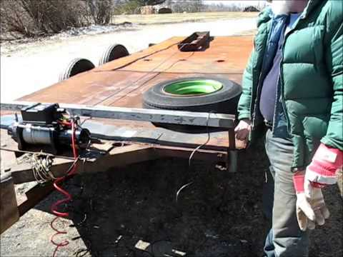 wiring my car trailer winch youtube rh youtube com trailer winch install boat trailer power winch wiring