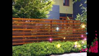 #Top Wooden Fence Ideas For Beautiful Home,Best Wooden Fence Ideas,Exterior Backyard Design Ideas #4