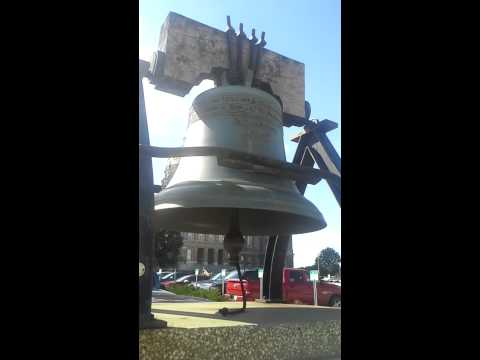 Ringing the Liberty Bell (replica)