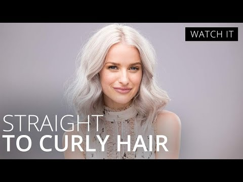 Straight to Curly Hair Tutorial with In the Frow   Feelunique