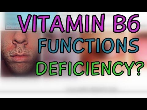 Vitamin B6 (Pyridoxal Phosphate PLP) Functions Deficiency of Vitamin B6