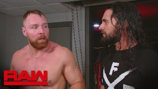 Dean Ambrose wonders why Seth Rollins didnt have his back Raw Feb 18 2019 video