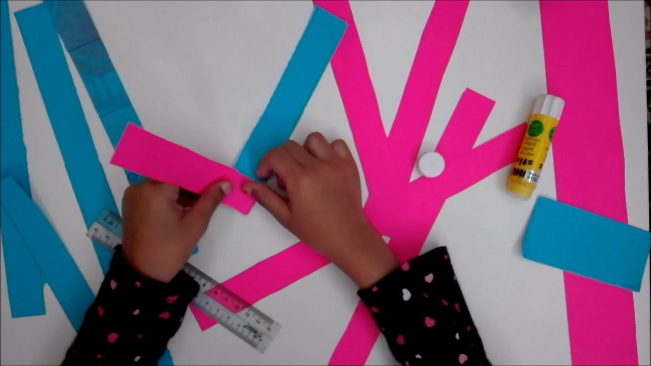 Cara Membuat Ular Guna Kertas Warna