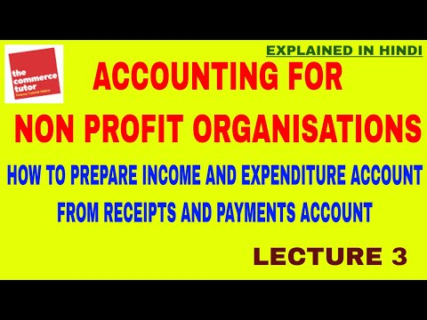 ACCOUNTING FOR NOT FOR PROFIT ORGANISATIONS   LECTURE 3