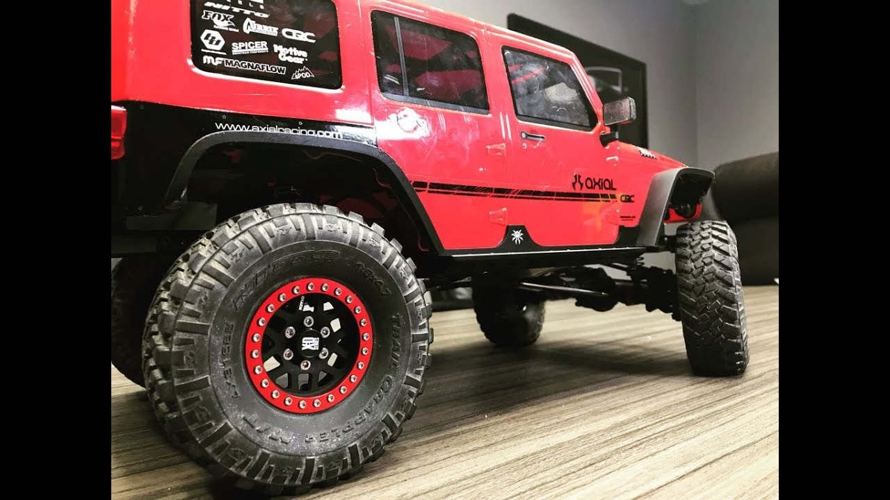 AXIAL SCX10 II 2017 Jeep Wrangler Set of 4 Tires and Wheels