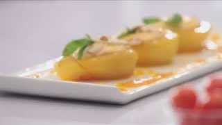 Saffron Poached Pears With Yogurt & Fruit Dressing With Havells Mixer Grinder By Chef Shantanu