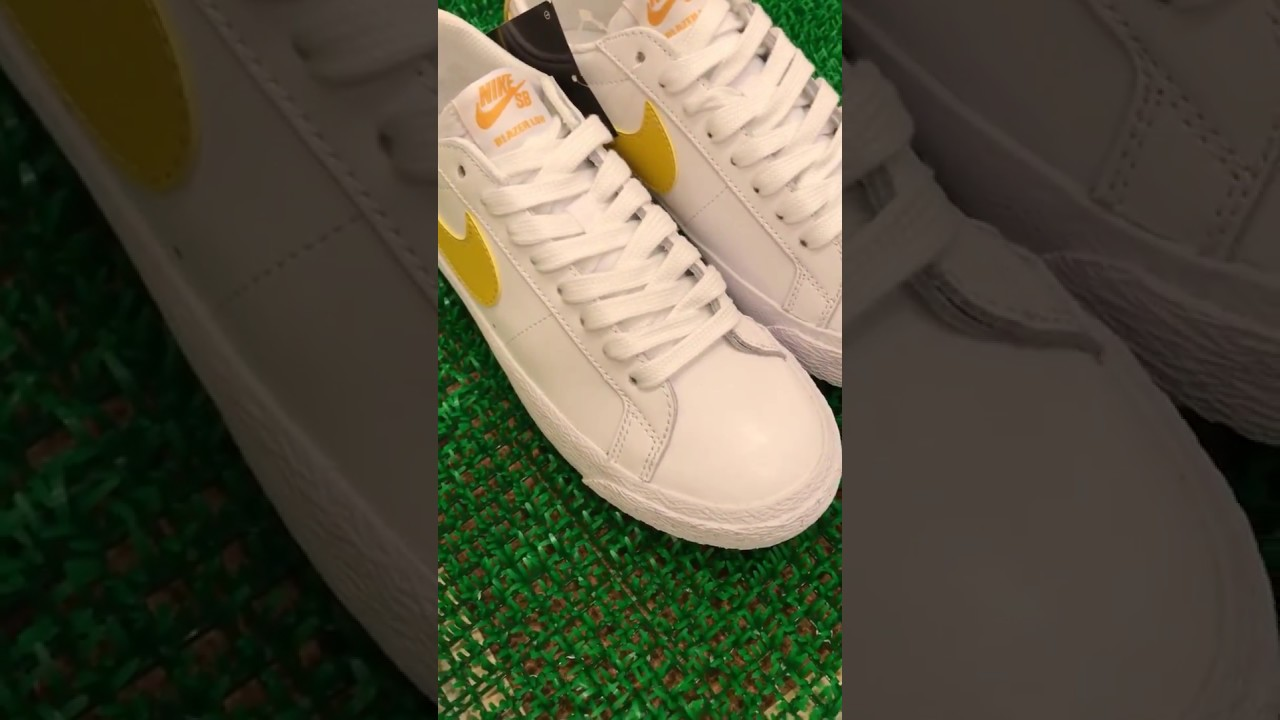 NIKE SB ZOOM BLAZER LOW (Mineral Gold) 864347-171 - YouTube e2990c277