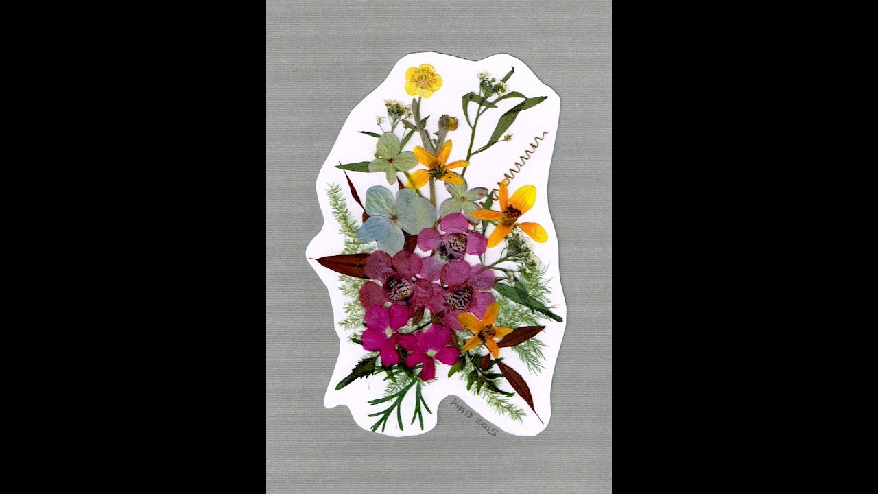 Uncategorized How To Make Pressed Flowers pressed flower greeting card youtube card