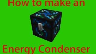 Minecraft: How to make an Energy Condenser!  Ten Minute Tekkit Tutorials