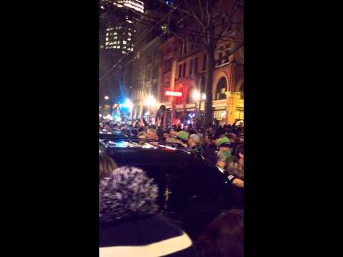 Pioneer Square Seattle after Seahawks win title