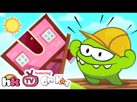 Om Nom Stories: Pretend Play House Building Cut the Rope Funny Cartoons for Children by HooplaKidzTV