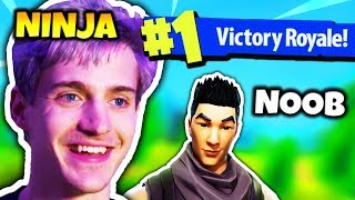 NINJA HELPS NOOB GET HIS FIRST WIN EVER | Fortnite Daily Funny Moments Ep.89