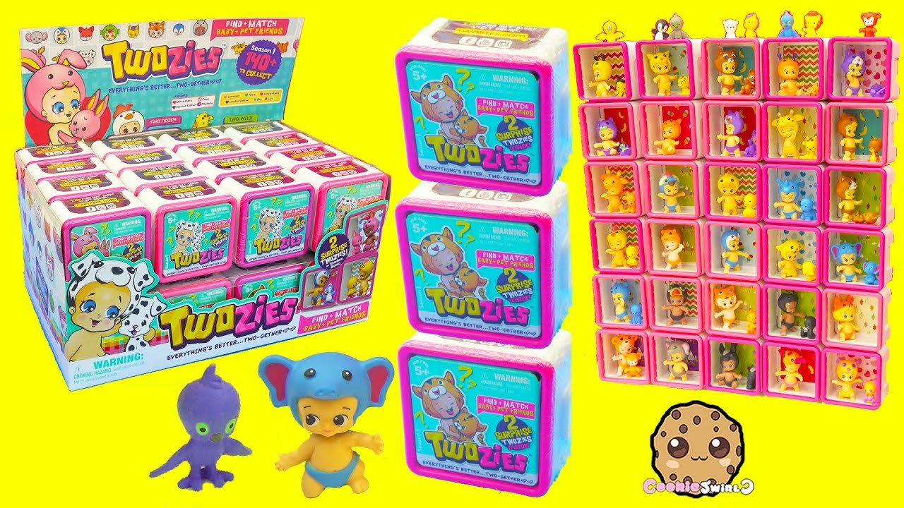 Full Box Of 30 Twozies Baby Surprise Blind Bag Boxes Each
