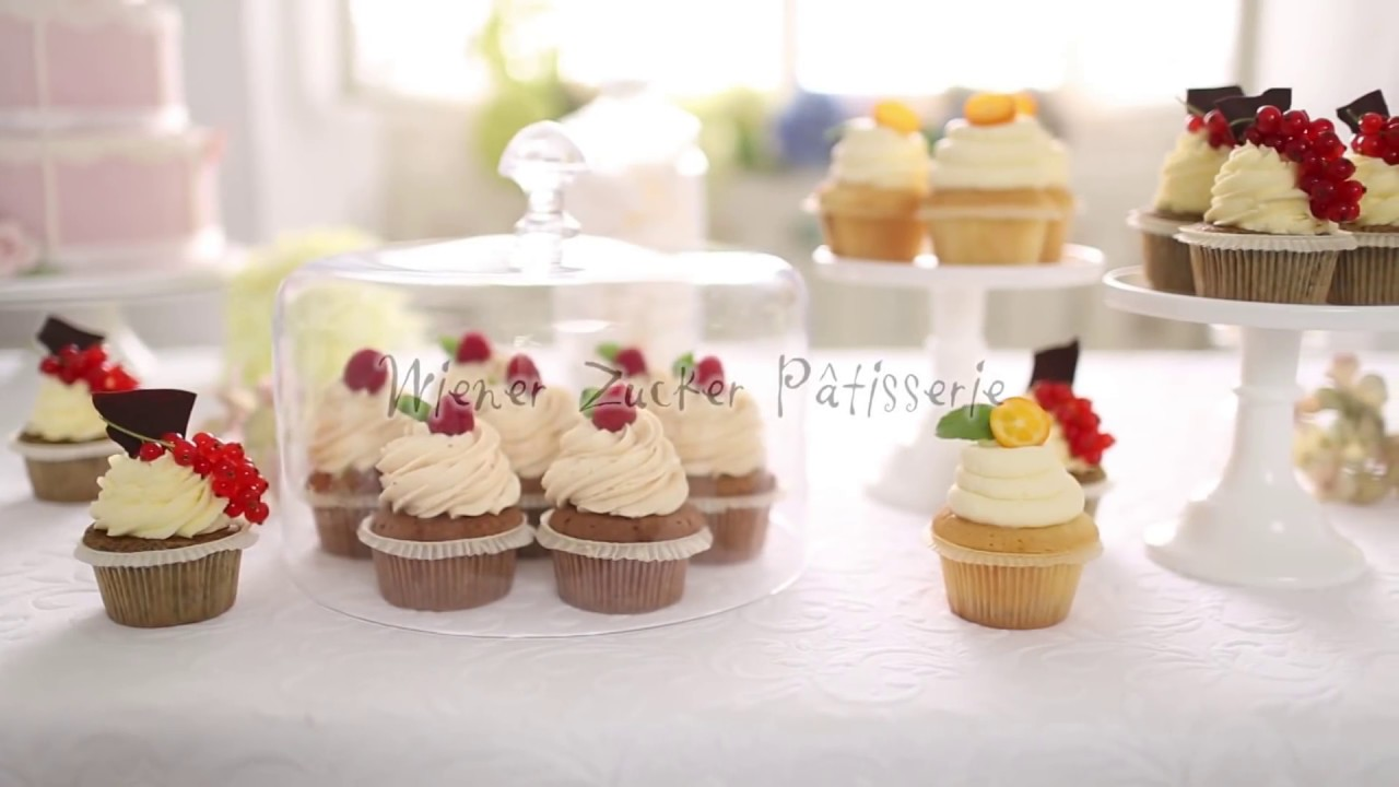 rezept cupcakes backen und topping auftragen schritt f r schritt mit wiener zucker youtube. Black Bedroom Furniture Sets. Home Design Ideas
