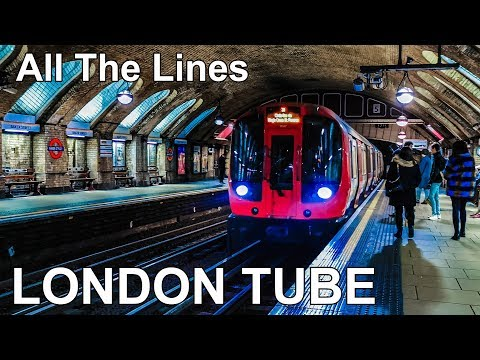 🇬🇧 London Underground - All The Lines (4K) (2020)