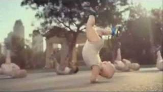 Evian Official Commercial - Roller-blading hip hop babies